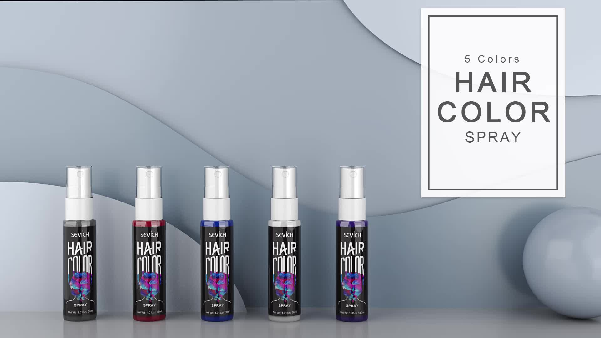 Manufacturer Daily Private Label Hair Dye Nourishing temporary color hair spray
