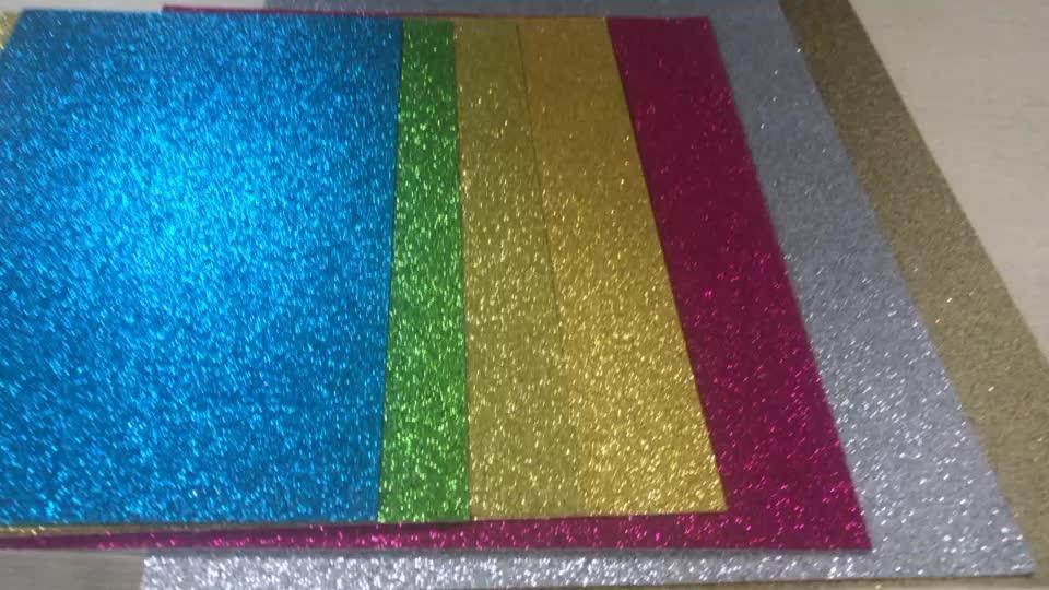 A4 Format 300g Glitzerpapier Karton, DIY Glitterpapier für das Handwerk