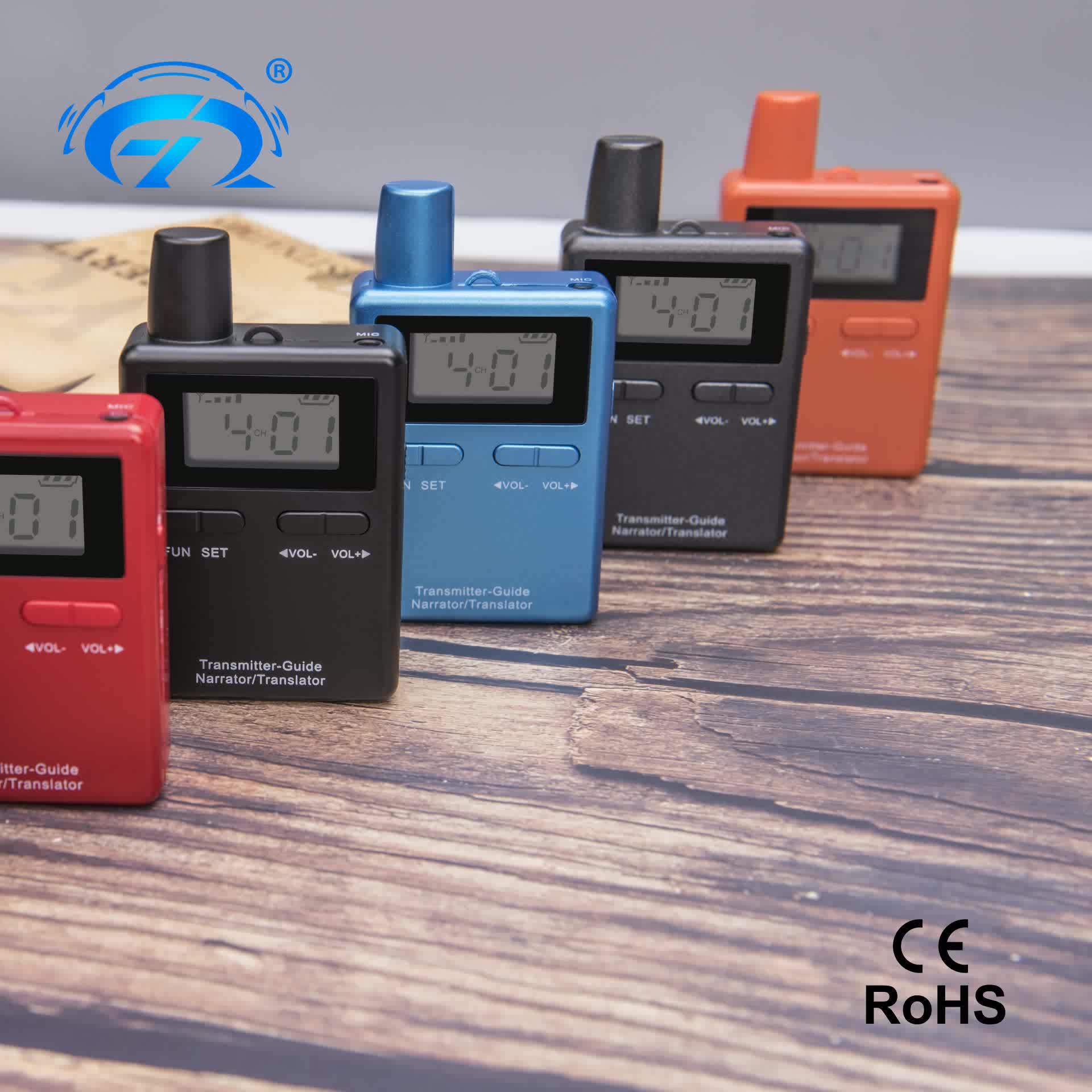 Rechargeable Audio Guide Tour Radio Guide System For Training