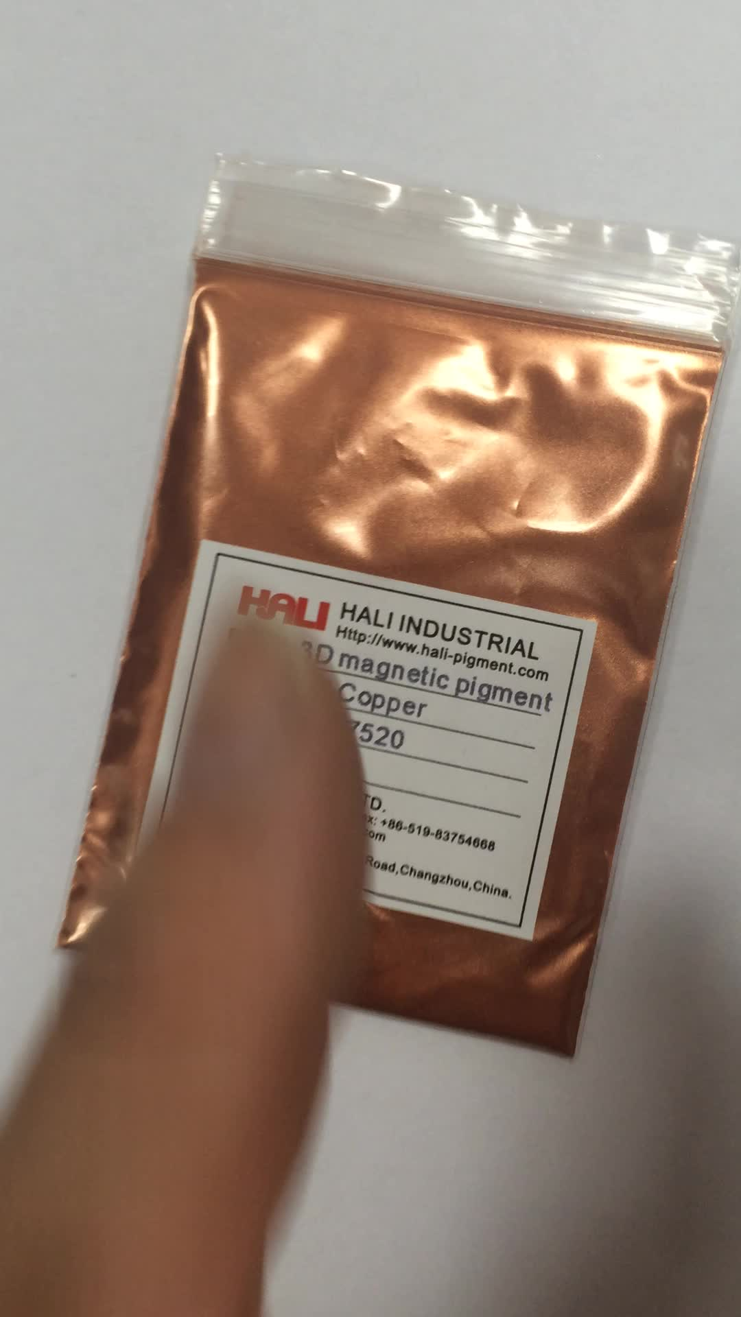 3D magnetic pigment,three-dimensional powder,item:HL3D7520,color:red copper