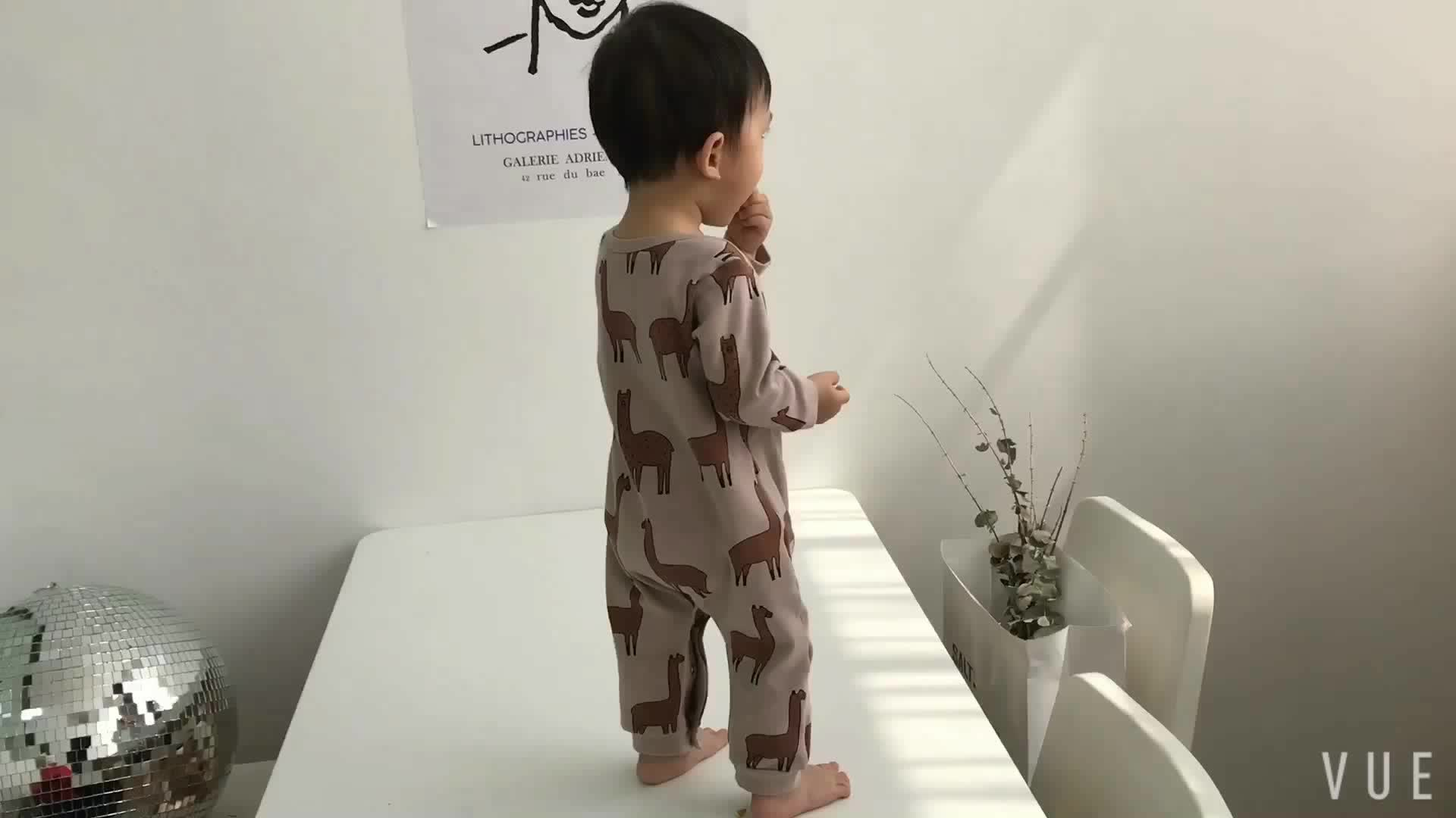 Accepted oem color pattern logo toddler clothing spring autumn fashion cute baby rompers clothes for online shop 1798