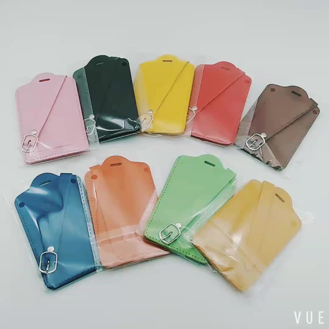 Hot Sale Wholesale Colorful PU Leather Luggage Tag Custom Logo