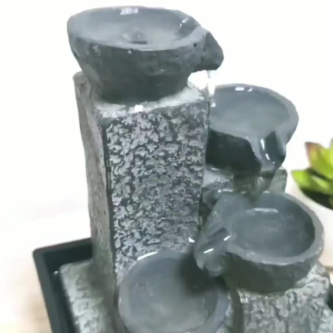 mini indoor waterflow fountain fengshui business promotional items