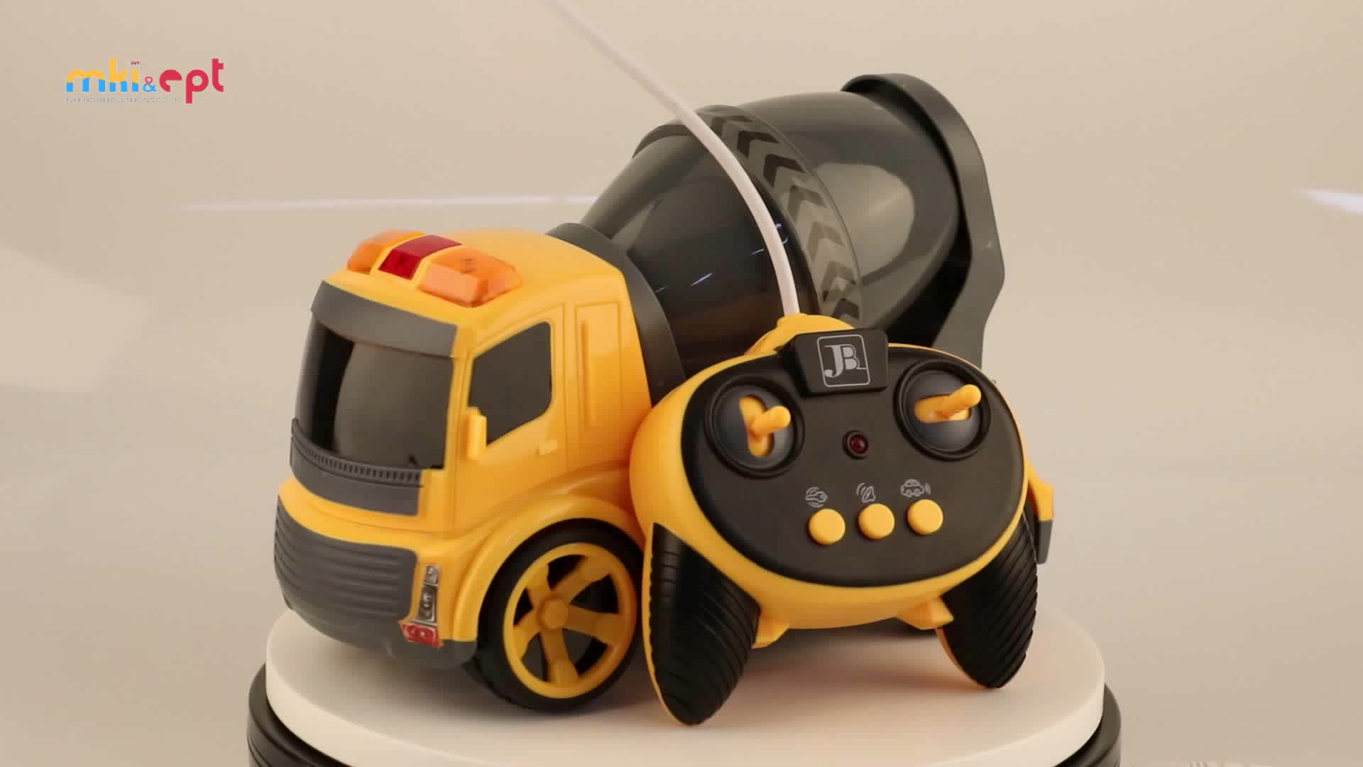 Battery Operated New Design Yellow RC Remote Control Truck Toy For Sale