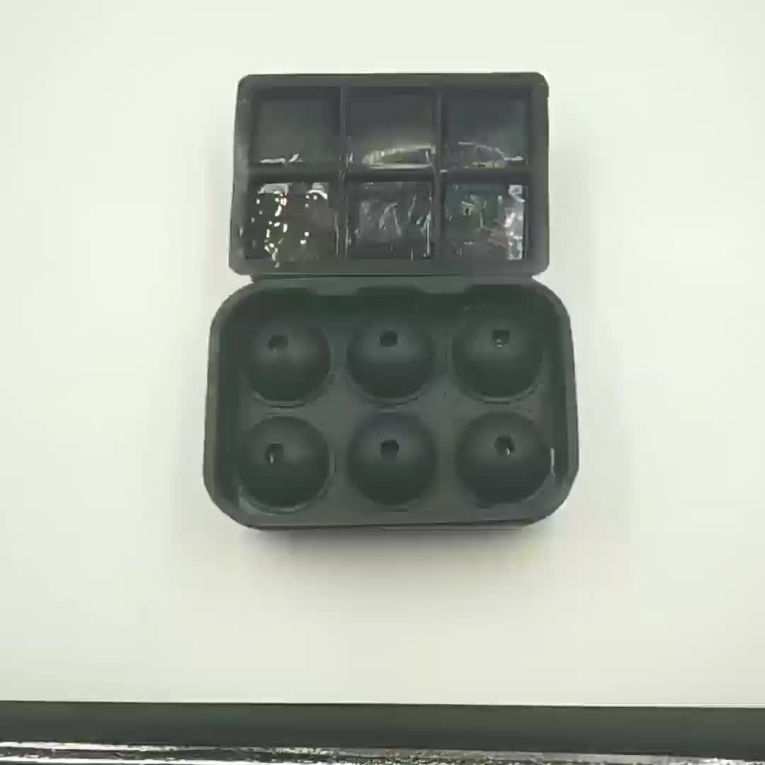 Multi-function 100%Food-grade Square Ice Maker Mold Set Sphere Mold Silicone Ice Ball Mold