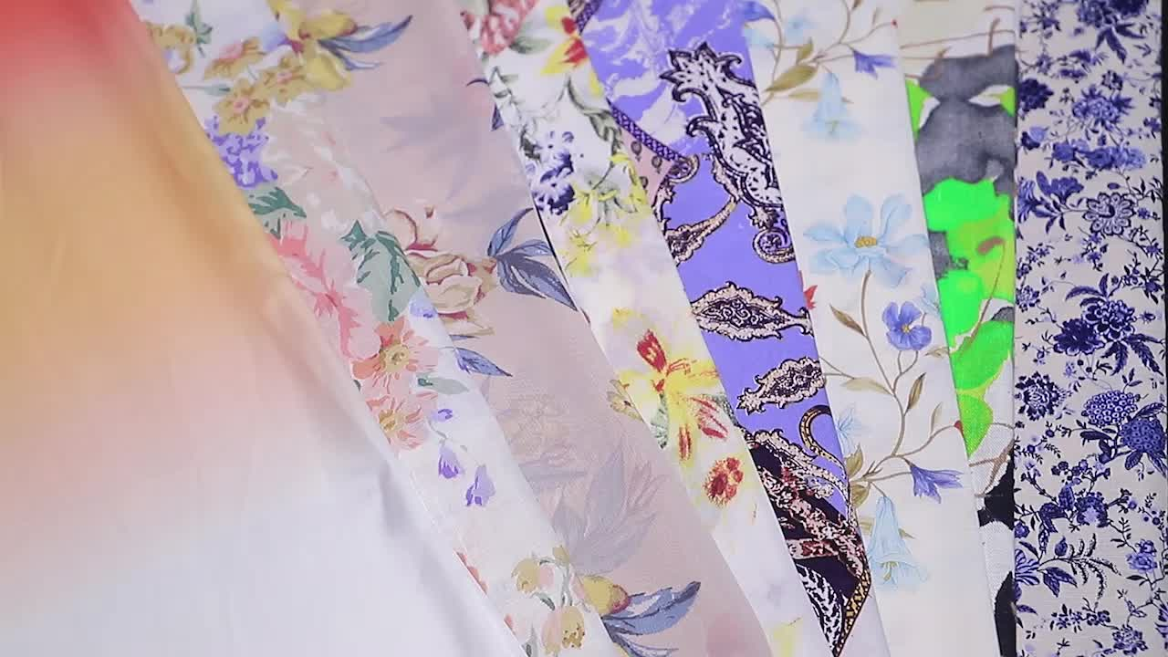 55% linen 45% cotton woven purple yellow flower china super digital print dress fabric for shirt