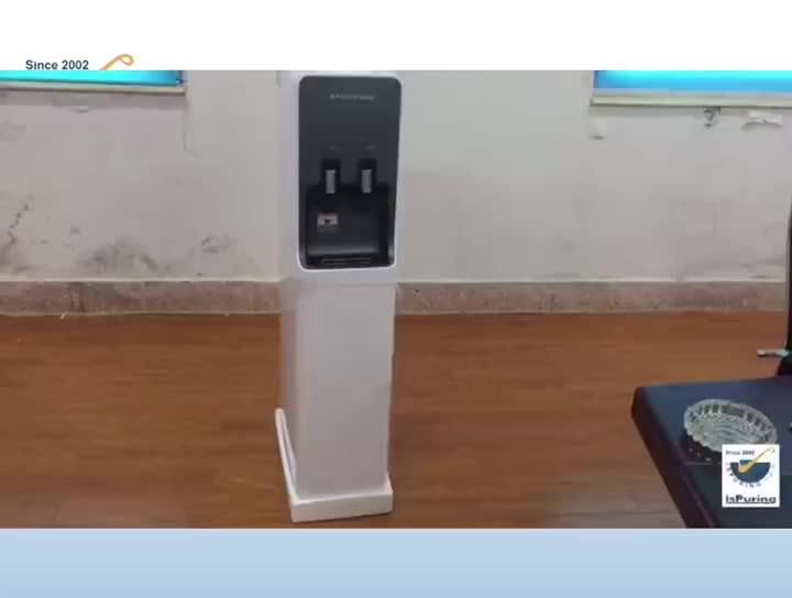 Diseño coreano hogar soporte frío caliente purificador de agua/dispensador de agua de refrigeración del compresor con filtros RO de filtración