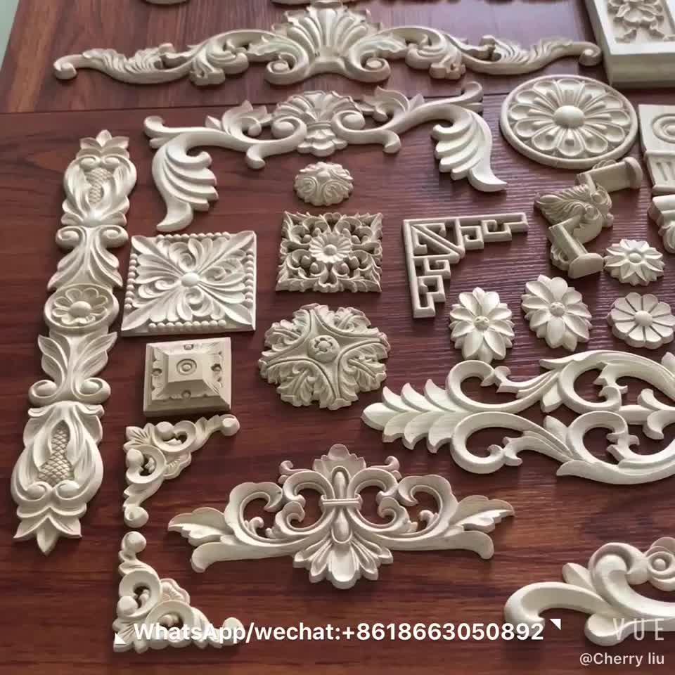Decoratieve Antieke Meubels Houtsnijwerk Rozet Applicaties En Onlays