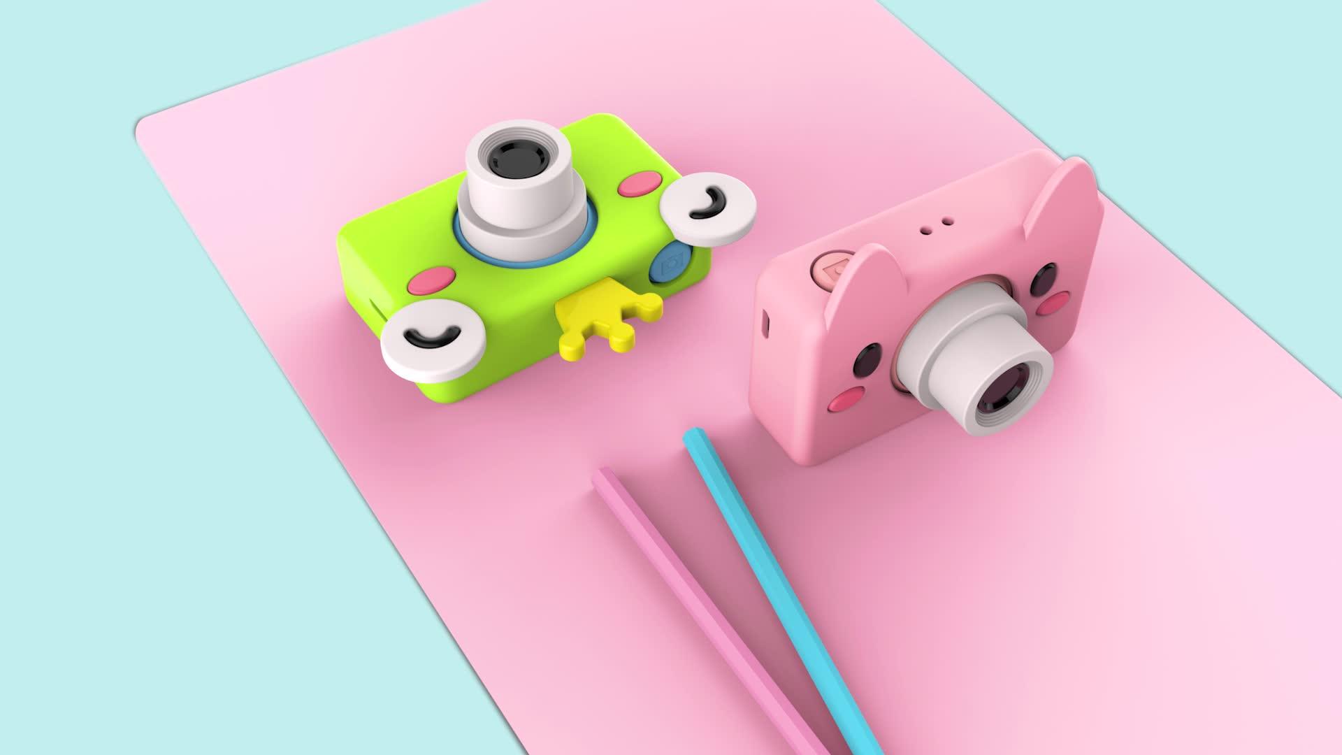 Dijital kamera 2.0 inç çocuklar için destek video fotoğraf çocuk kamera ile koruma kamera