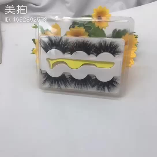 Private Label 5D MINK EYELASHES 18ミリメートル20ミリメートル25ミリメートル3dミンクまつげ3ペアミンクまつげピンセット