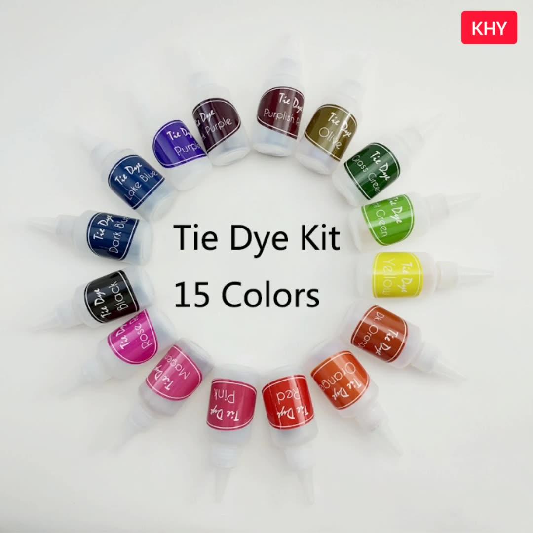 Thiết Kế Độc Đáo Vĩnh Viễn Màu Sắc Tươi Sáng Rực Rỡ Phù Hợp Cho Áo Sơ Mi Vải Dệt Tự Làm DIY Tie Dye Kit
