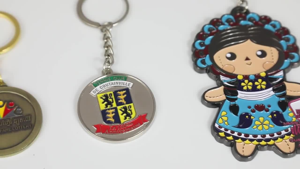 Personalizzato die cast in metallo lettera della catena chiave/anello portachiavi con logo personalizzato