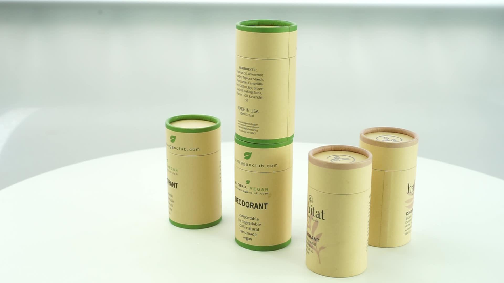 Hot sales push up tube  lip balm tube round deodorant container