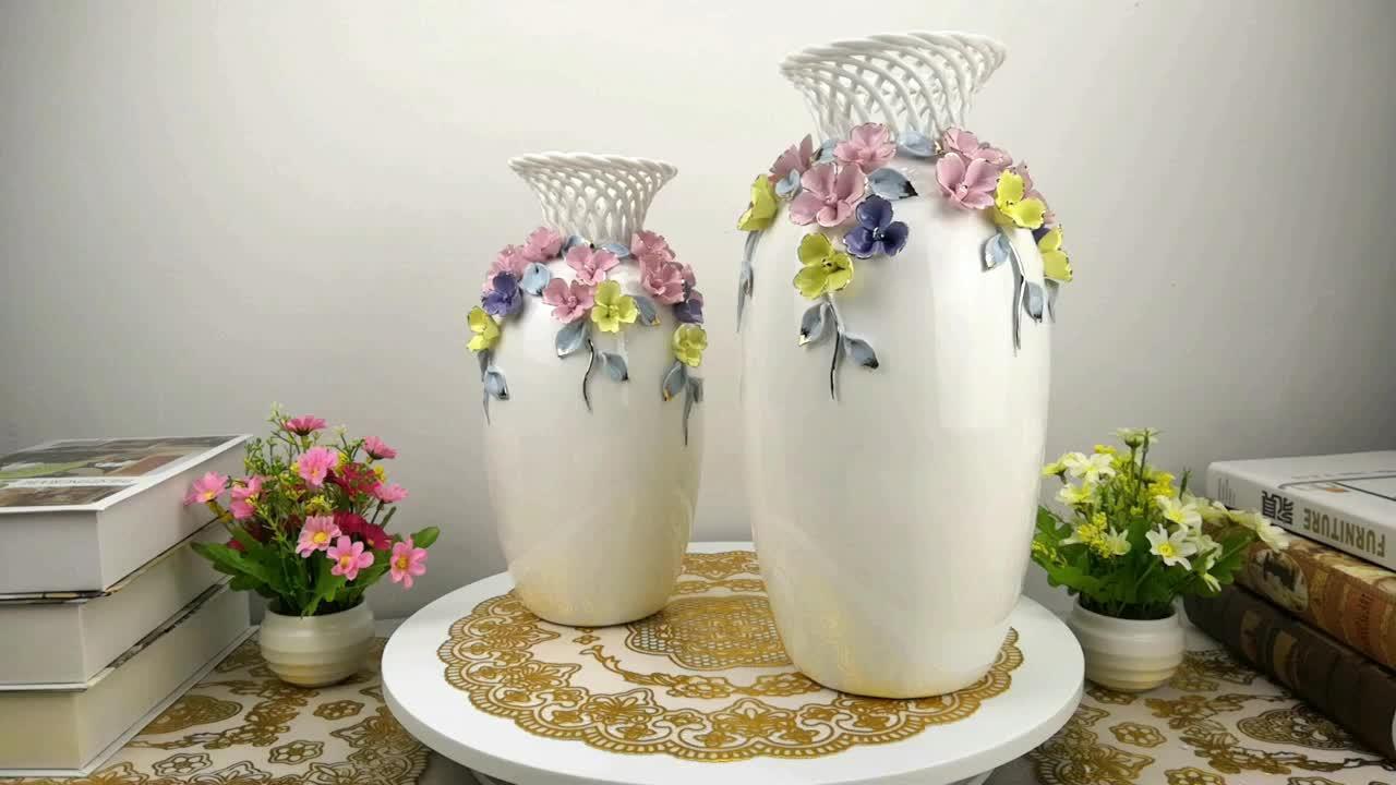 Casa jardín decorativo chino de cerámica de porcelana hermosa mano artesanías floreros