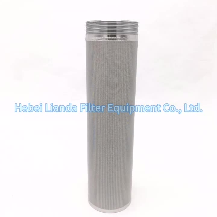 316L stainless steel sintered mesh filter cartridge CODE7 226 bayonet fin end fitting