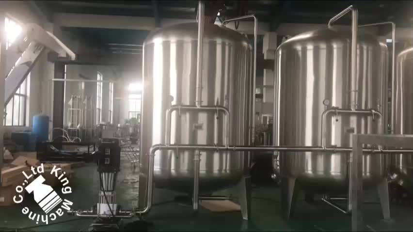 Industrial reverse osmosis plant for water treatment plant