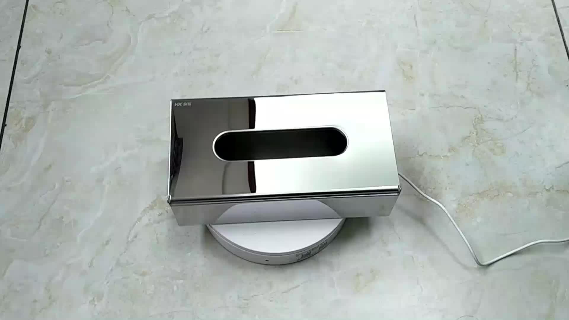 Cuboid 다기능 미러 완료 304 스테인레스 스틸 벽 마운트 테이블 냅킨 티슈 상자