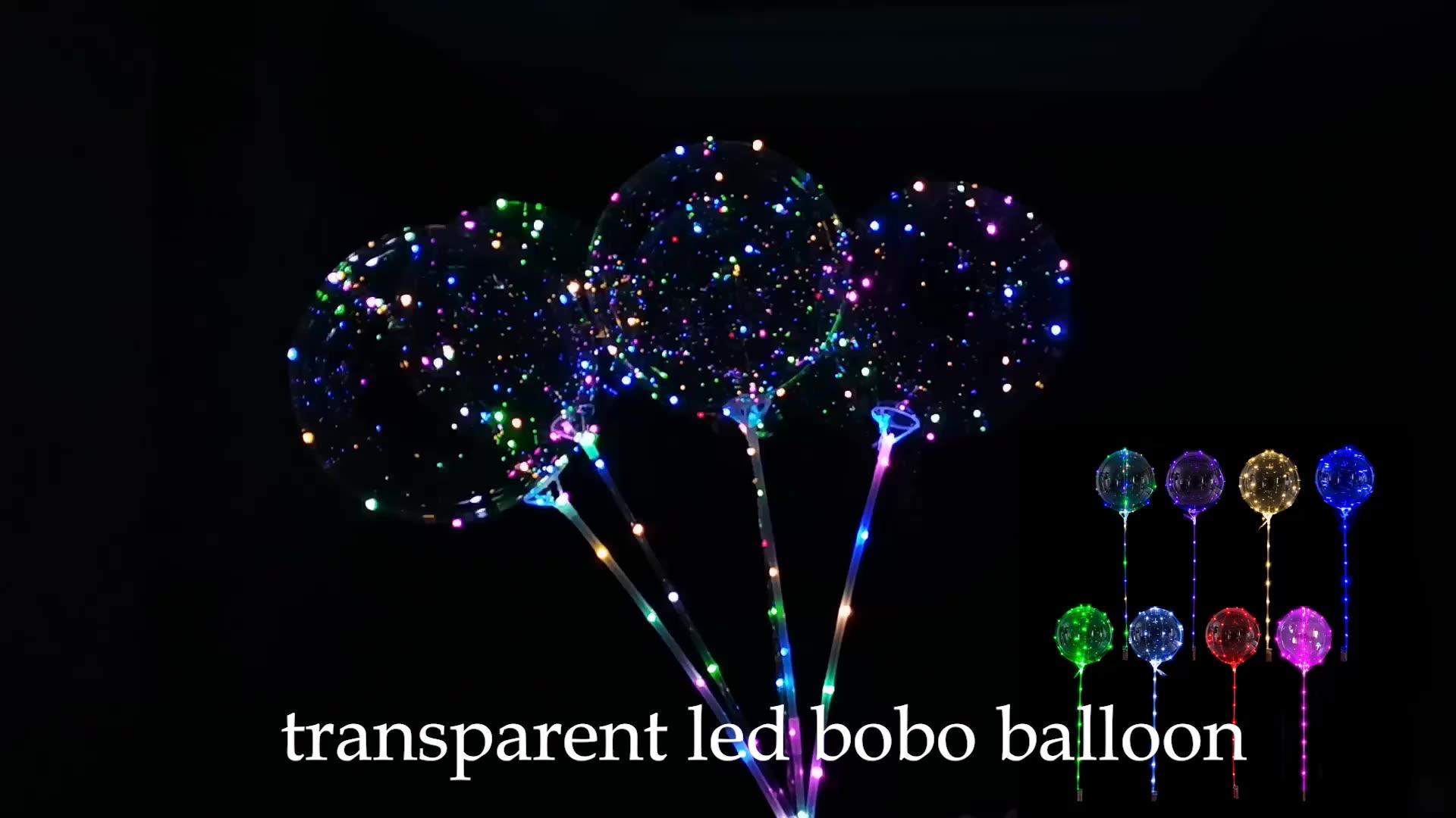 Toptan PVC Plastik led ışık Parlayan Balon Şeffaf Şeffaf Kabarcık Balon