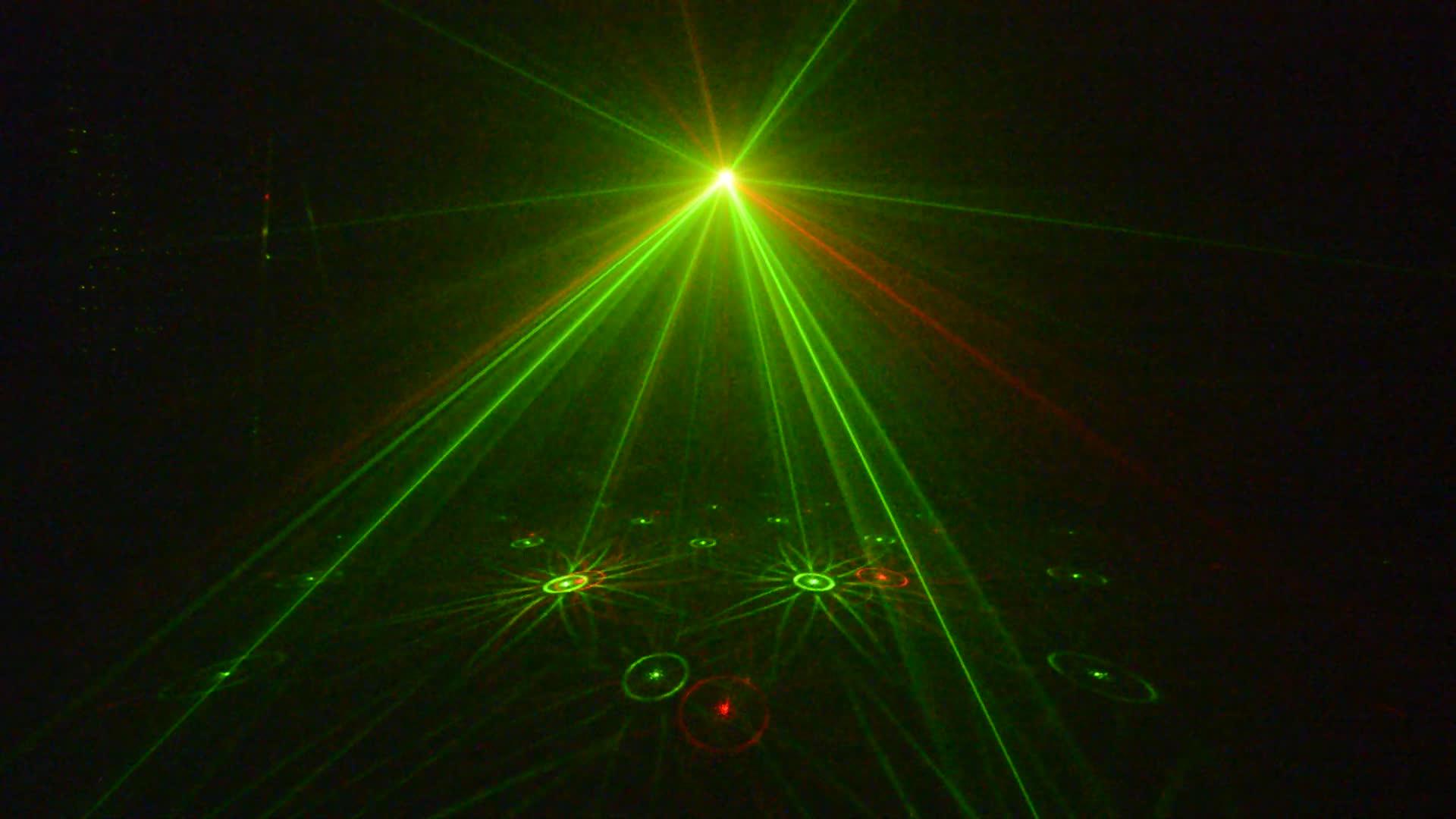 Disco DJ Party Swarm Wash FX Eight Eyes LED Strobe Laser Moonflower Effect Lighting