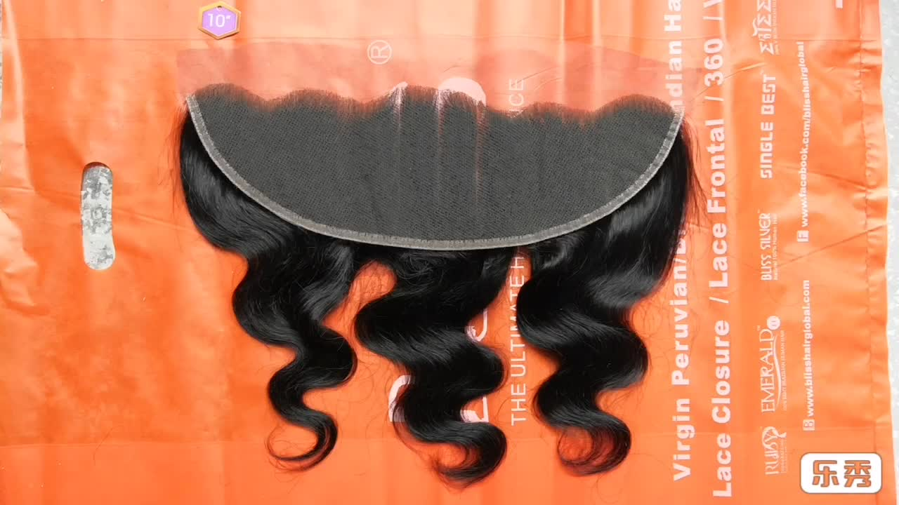 Emerald new product natural human lace frontal closure 13x6 ear to ear closure