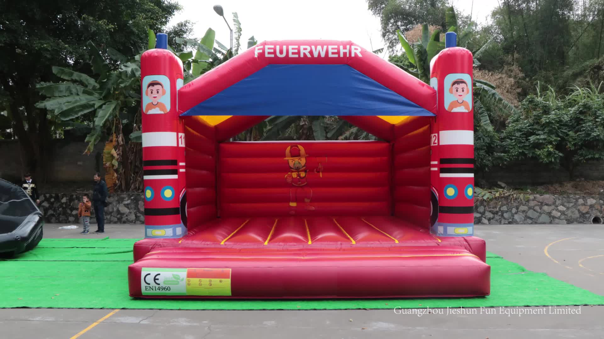 Newest Fire Truck jolly jumper Inflatable Bounce House