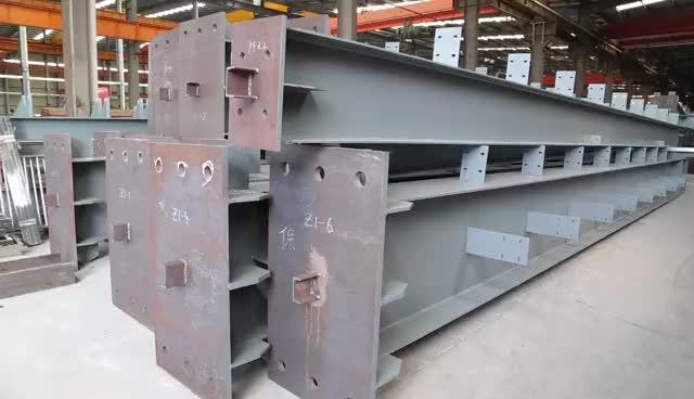 Prefabricated light modern steel structure frame warehouse