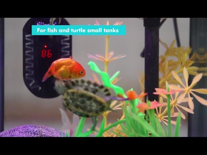 Hygger 50W ดิจิตอลแสดงผลมินิเครื่องทำน้ำอุ่น Aquarium สำหรับถังปลาขนาดเล็ก,Compact และ Fast เครื่องทำความร้อน,