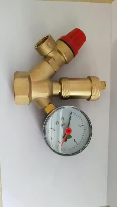 Wasser Druckregler. Messing bleifreien Verstellbare Wasser Druckminderer für Rv mit Che