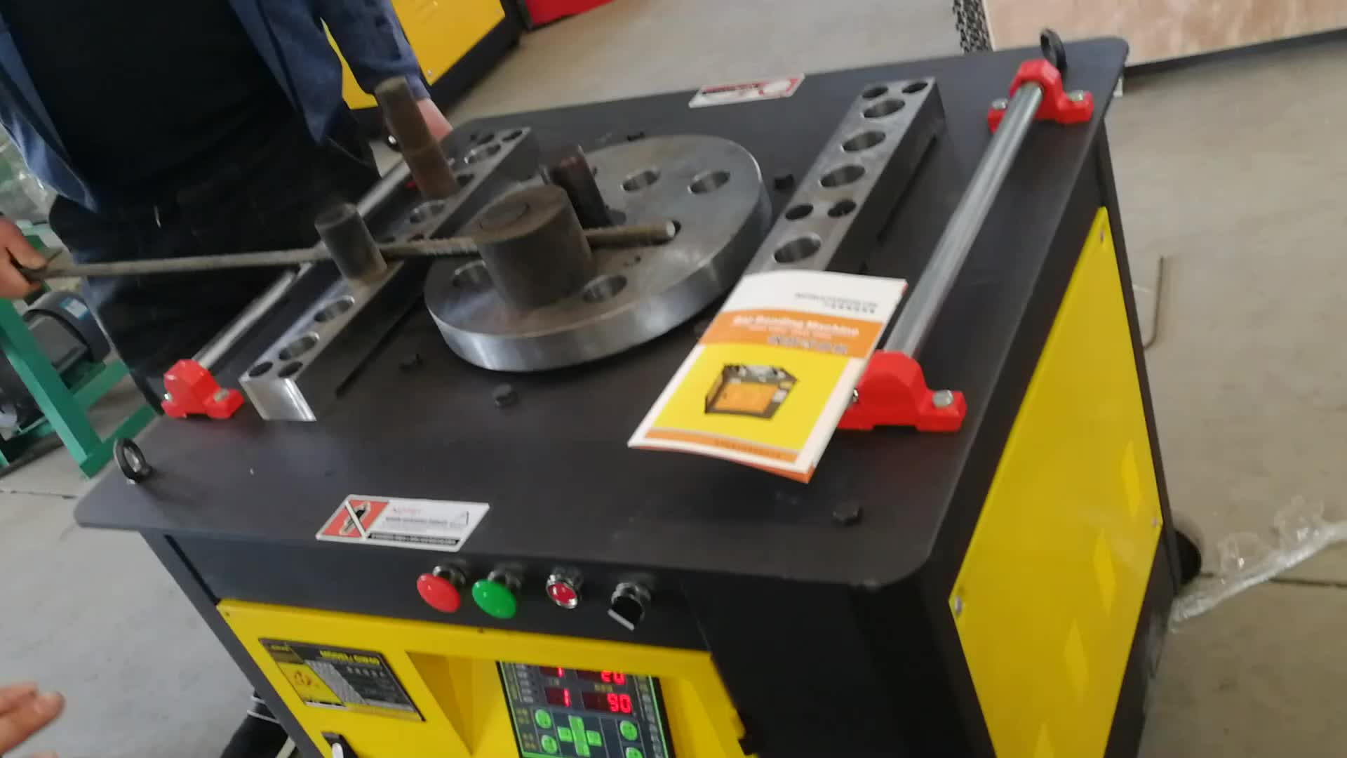 cnc control steel bar rebar bender /bending and cutting machine for any angle