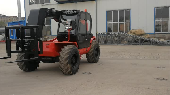 Container load/unload compact size 3000kg capacity 7m side boom telescopic handler forklift made in China