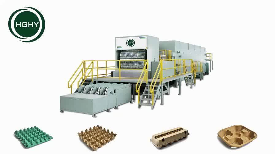 High Efficiency Full Automatic Rotary Egg Tray / Carton Machine