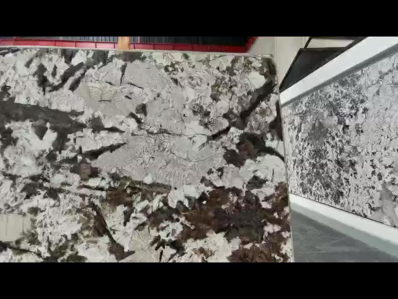 Blanco Potiguar beyaz granit plaka taş duvar için dekoratif panel