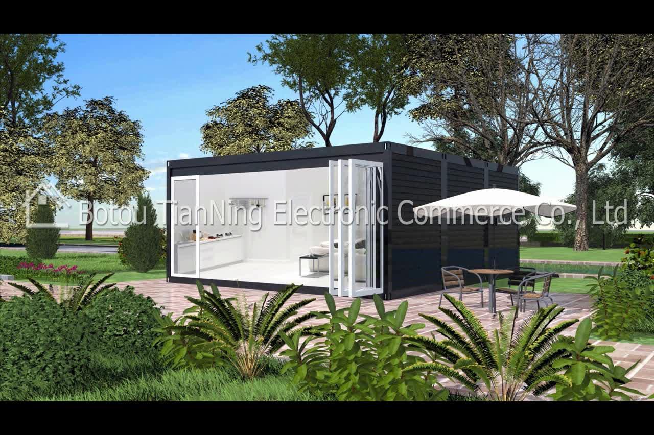 Luxe twee slaapkamer ce gecertificeerd prefab container huis te koop