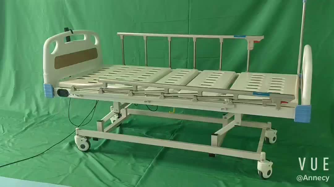 AC-EB034 medical equipment supplies STEEL Material  Product name 3 functions  electric hospital bed abs panel