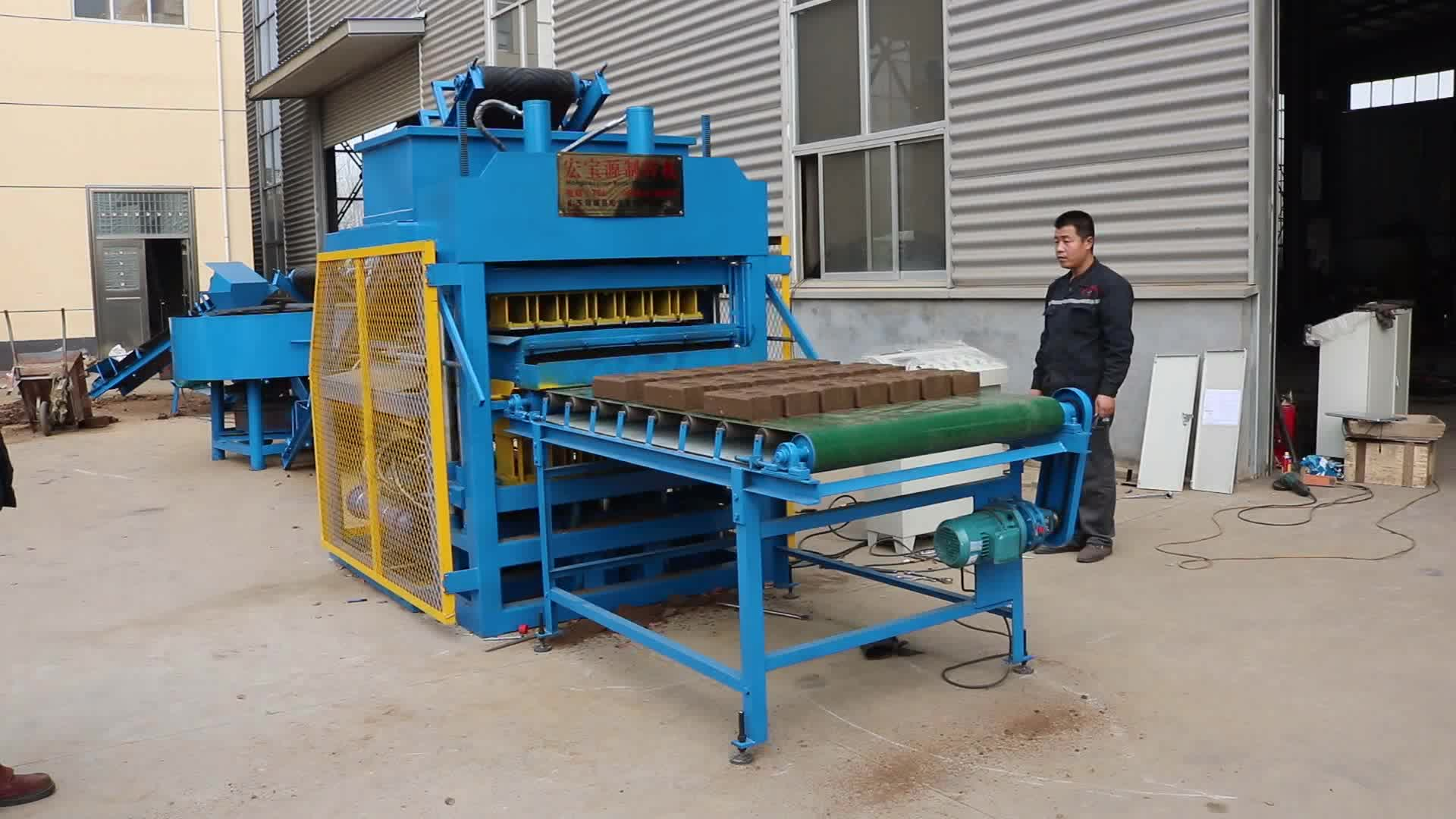 automatic red soil brick making machine 7-10 super kenya soil cement interlocking brick making machine