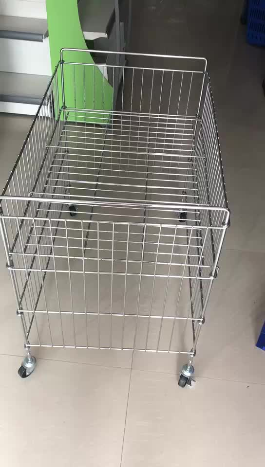 High Quality Heavy Duty Steel Wire Basket Mesh Pallet Cage