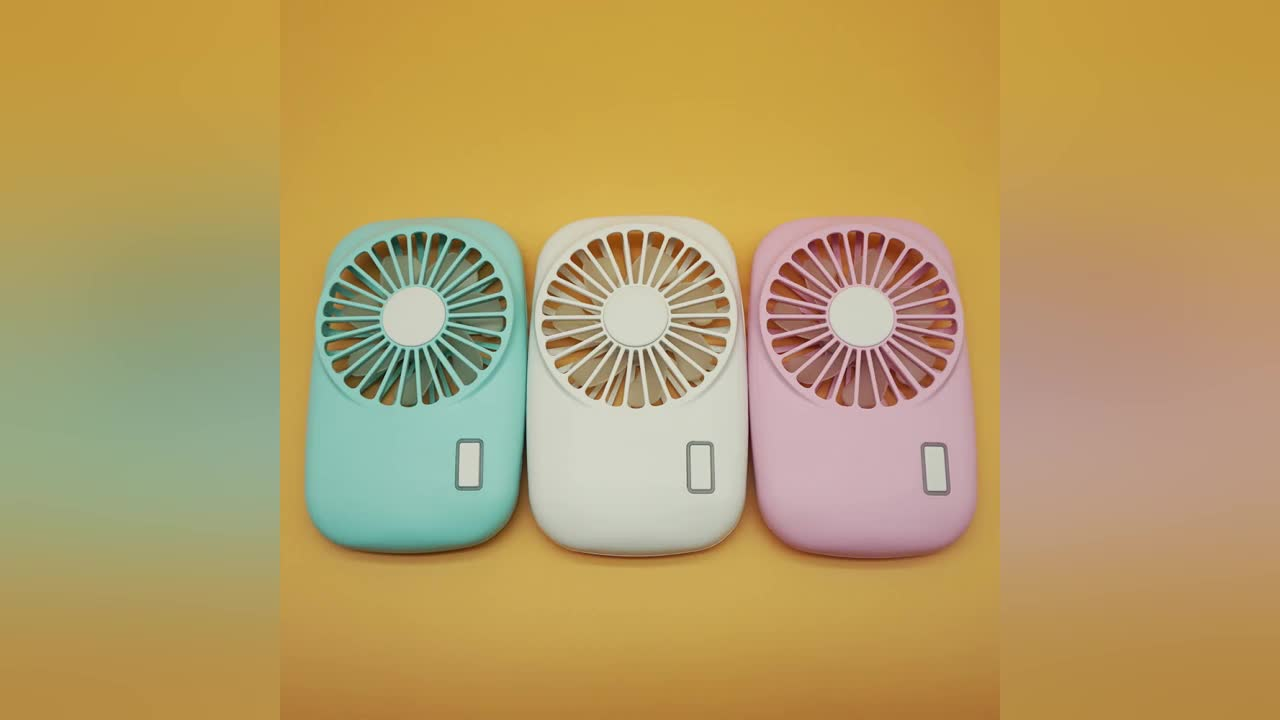 Easy to carry best summer gift for girls mini pocket size USB rechargeable battery portable USB fan