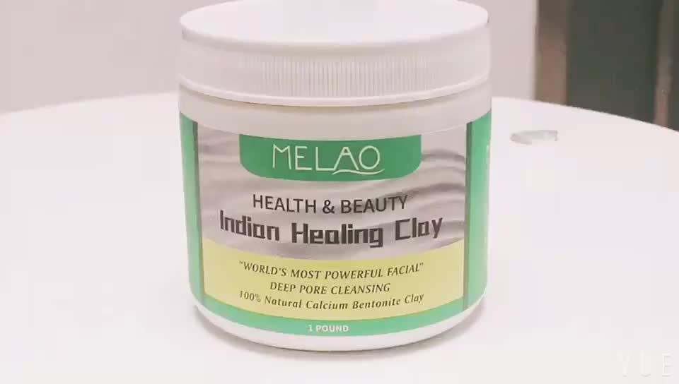 Natuurlijke Calcium Bentonietklei Masker Diepe Porie Reiniging India Healing Klei Voor Schoonheid Gezicht Huid