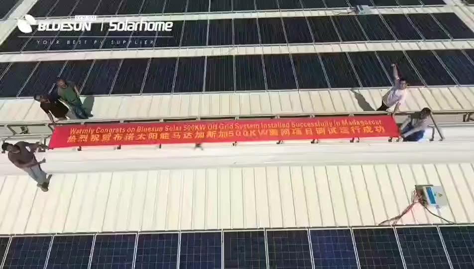 Vendita calda Bluesun i sistemi solari domestici completo 15kw 20kw 10kw sulla griglia di sistema del pannello solare 10kw casa del legame di griglia solare sistemi di 40kw