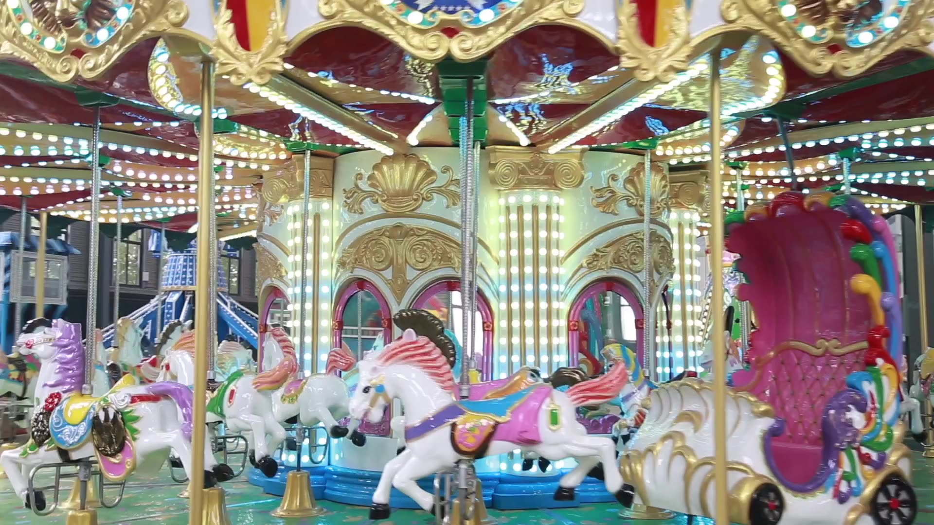 2019 cheap amusement park carousel horses for sale