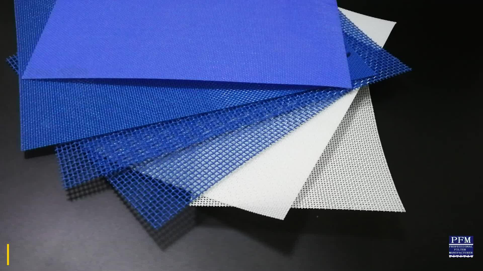 Polyester Mesh Pengering Conveyor Belt untuk Pengolahan Makanan/Sludge Dewatering