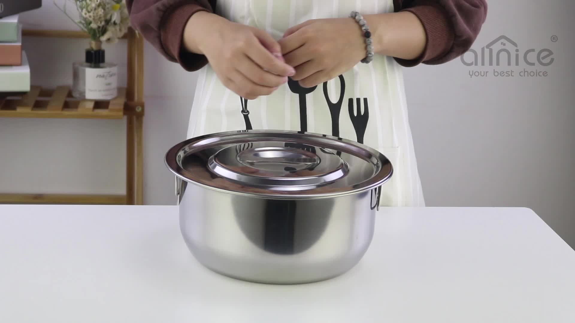 MY HOME Colored SS410 5pcs stainless steel stock pot stainless steel cooking pot