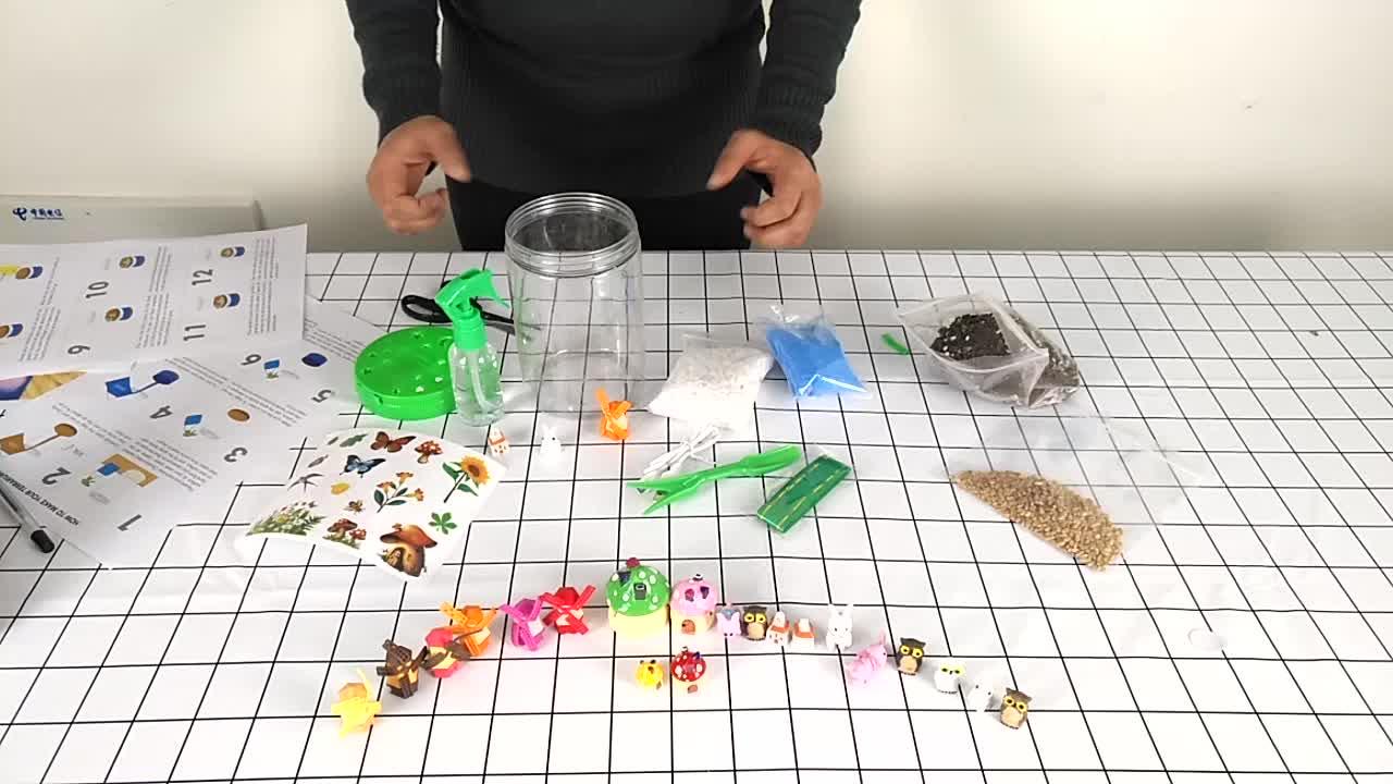 OEM BRICOLAGE enfants jouets mini jardin plante pousser en plastique terrarium kit enfants Botanique Kits Scientifiques jouets éducatifs