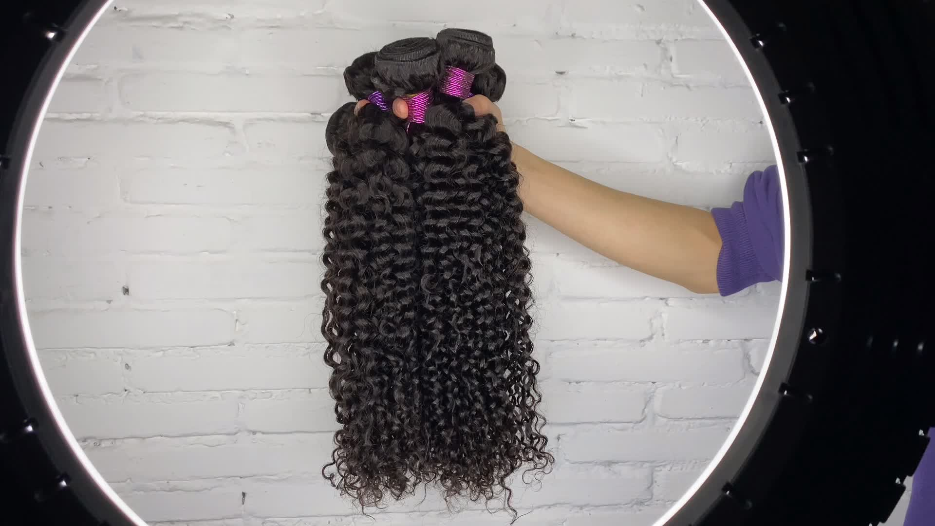 Vlasy Curly Wave Brazilian Human Hair Weave Bundles 100% Human Hair Extension Remy Virgin Cuticle Aligned Hair