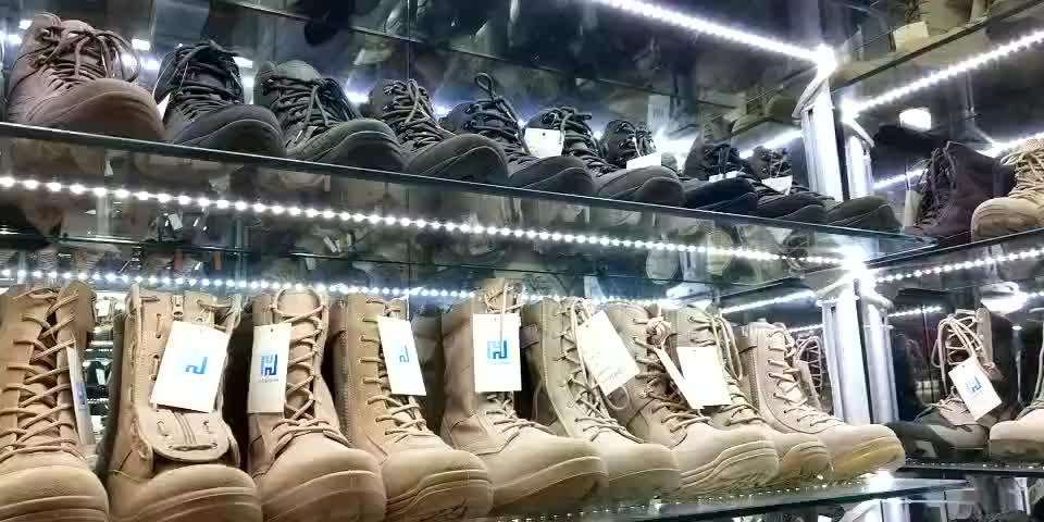 Forza Militare Stivali Tattici degli uomini Scarpe/Combattimento Genuino di Cuoio Dell'esercito Sapatos Campeggio/Impermeabile di Sport di Usura
