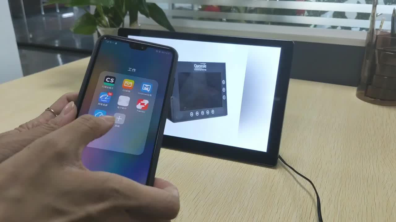 10.1 Inch IPS Màn Hình Cảm Ứng Android Đám Mây Đầy Đủ Hd Video Kỹ Thuật Số Hình Ảnh Khung Ảnh Wifi