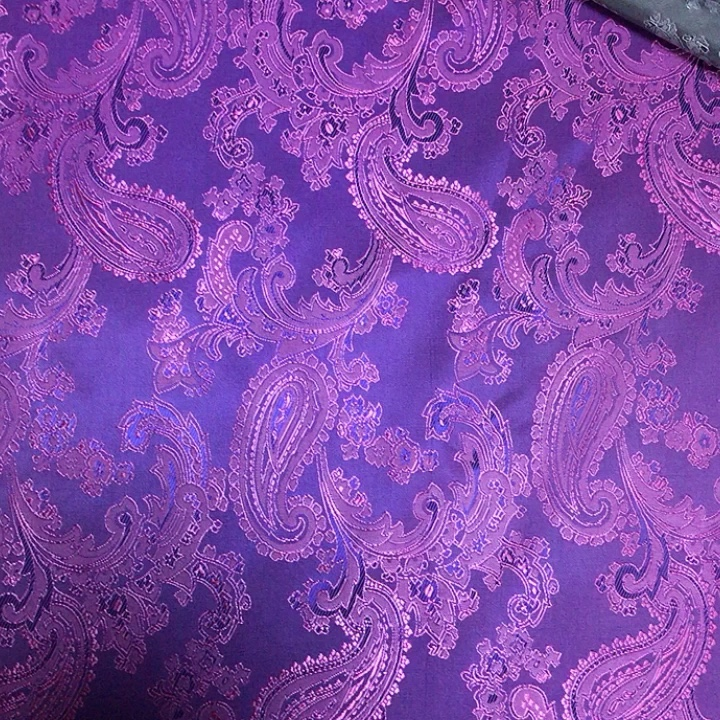 Kuangheng textile wholesale 55%polyester45%viscose paisley fabrics high grade lining fabric for suit