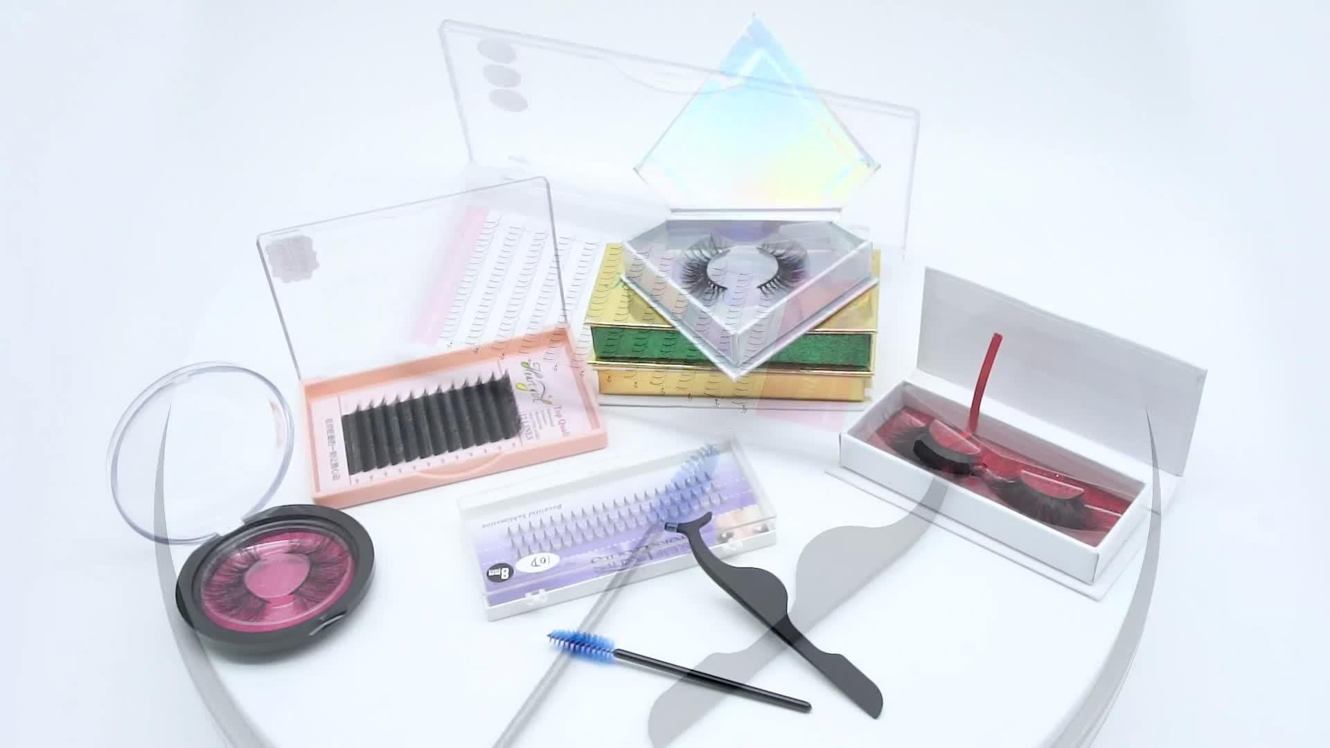 3D faux nertsen zijde wimpers private label custom wimper verpakking, groothandel 3d zijde strips wimpers