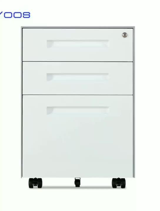 Office furniture Equipment for A4 File steel metal Cabinet moving storage 3 drawers cabinet filing cabinet Mobile Pedestal