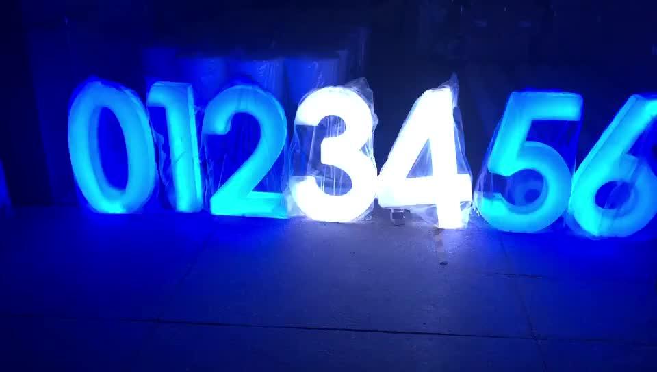 Alta brillante al aire libre/Iluminación led interior número PE Material led iluminado números